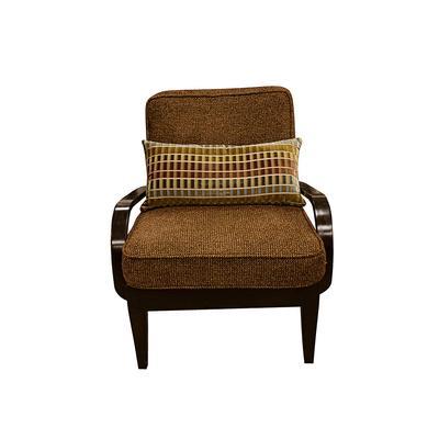 Wooden Arm Chair w/ Pillow
