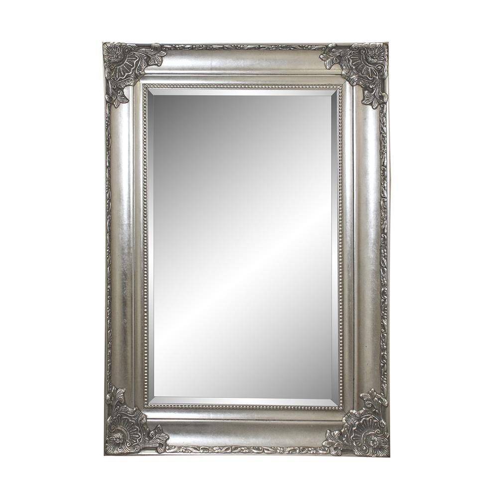 Ornate Silver Framed Mirror
