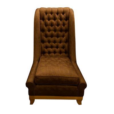 Larry Laslo Chair-Brown Silk