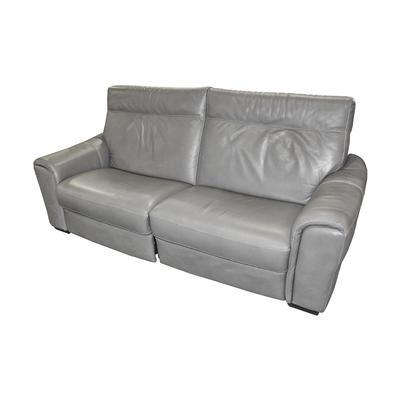Two Piece Natuzzi Power Leather Reclining Sofa
