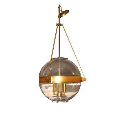 Bellacor Brass 3 Light Globe