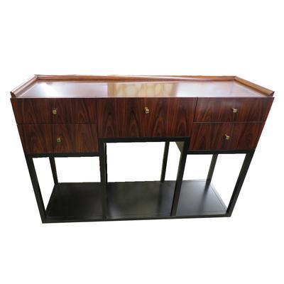 Brownstone 5 Drawer Sideboard With Goldtone Knobs