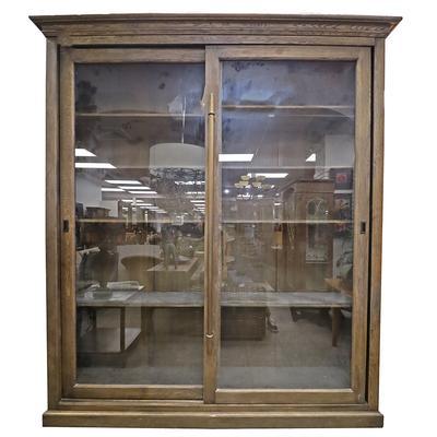 Restoration Hardware English Brass Bar Slider Cabinet