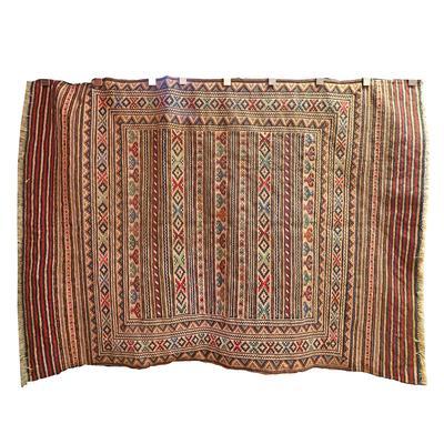 75x54 Aztec Inspired Hand Tied Rug