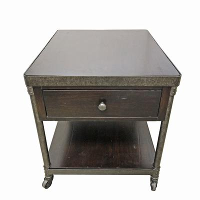 Hammray One Drawer on Wheels End Table