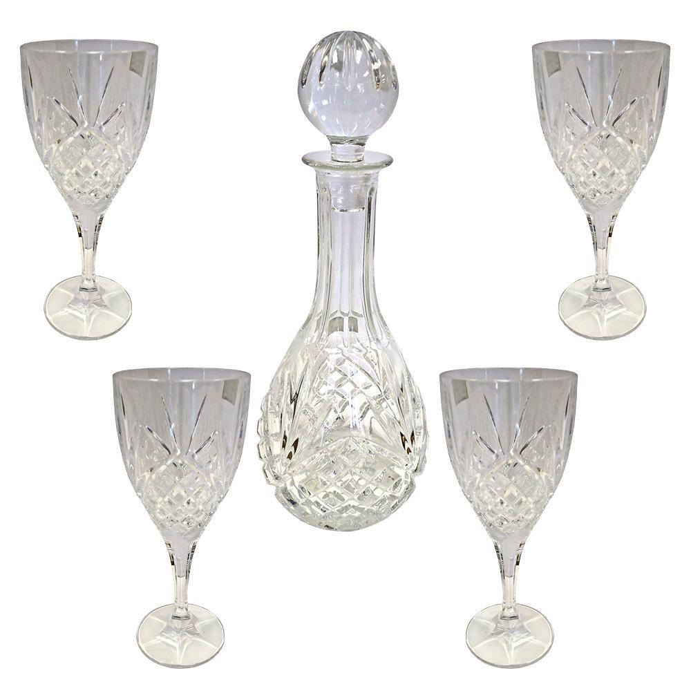 5 Piece Royal Doulton Wine Set Glassware