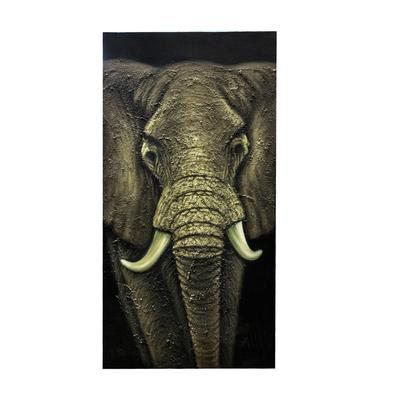 Elephant Wrapped Canvas Art Work