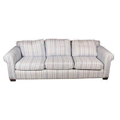 Blue and White Custom Sofa