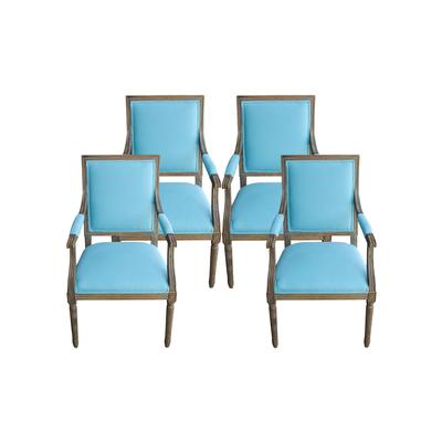 Restoration Hardware Set of 4 Custom Vintage Square Back Chairs