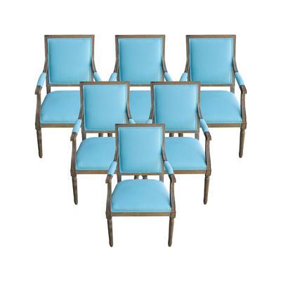 Restoration Hardware Set of 6 Custom Vintage Square Back Chairs