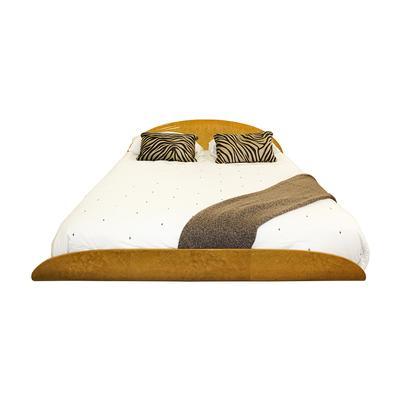 Heberard Lacquered Italian Made Queen Platform Bed
