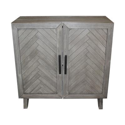 Grey Wash Wood 2 Door Cabinet