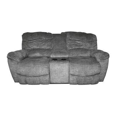 La-Z-Boy Grey Double Manual Reclining Fabric Sofa