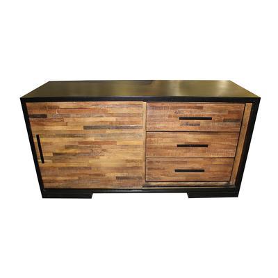 Crate and Barrel Double Door Wood Panel Media Stand