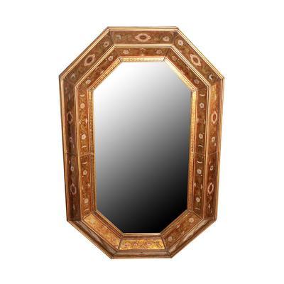 Kern & CO. Floral Inlay Mirror