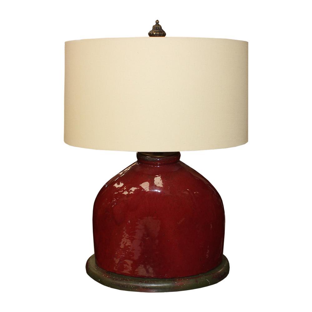 John Richard Red Ceramic Lamp