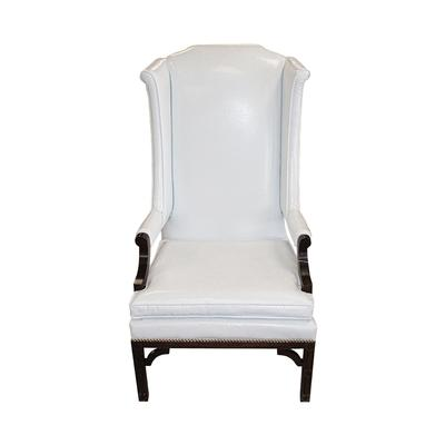 Erwin Lambeth White Wing Back Chair