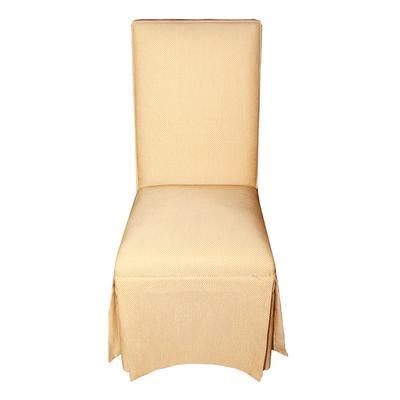 Yellow Skirted Parson Chair