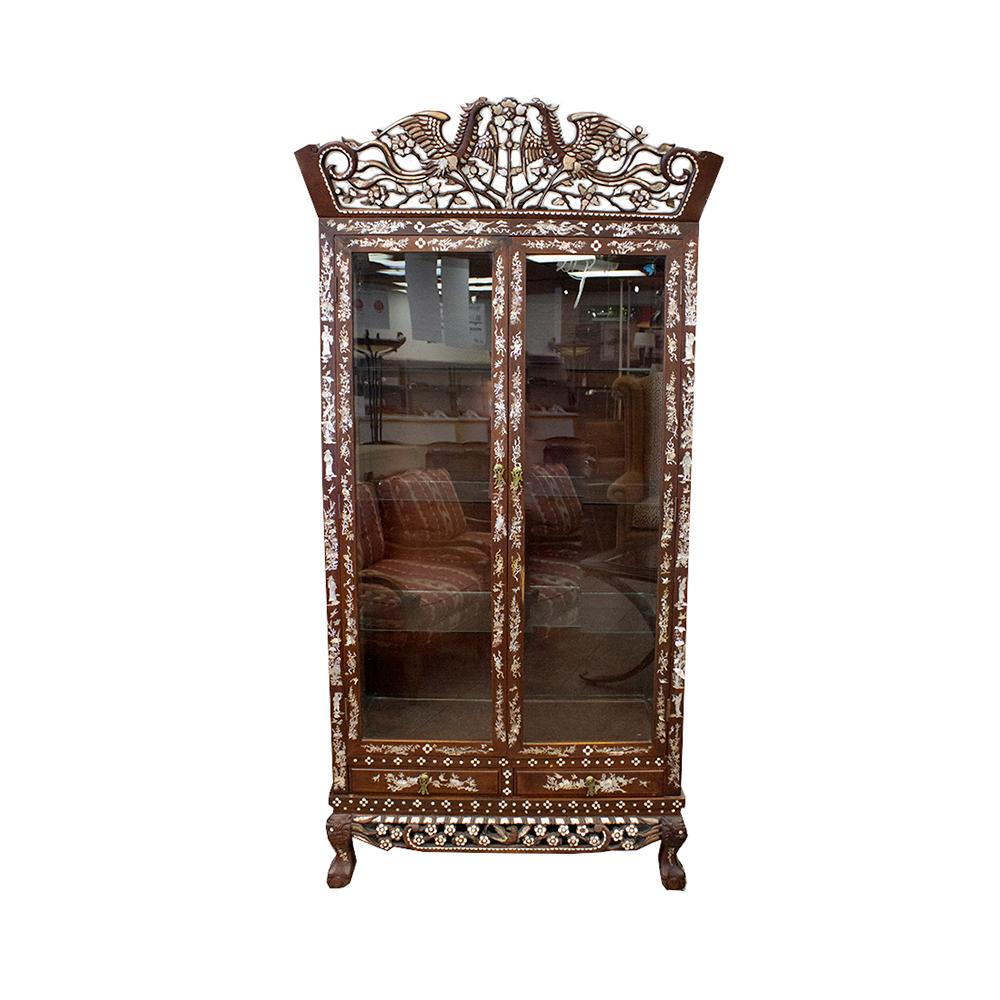 Display Cabinet Vintage With Crown