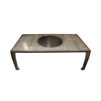Steel brushed Custom Coffee Table
