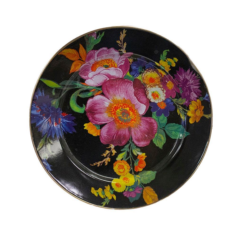 Mackenzie- Childs Black Flower Set Of 7 12