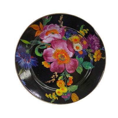 Mackenzie-Childs Black Flower Set of 7 12