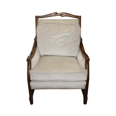 Custom Exposed Wood Arm Chair