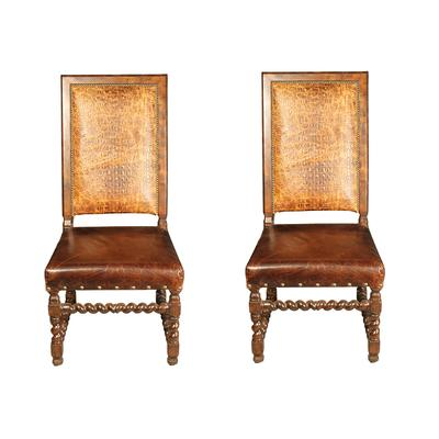 Paul Robert Croc Embellished Chairs