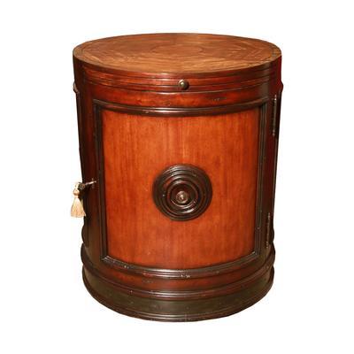 Burl Drum End Table