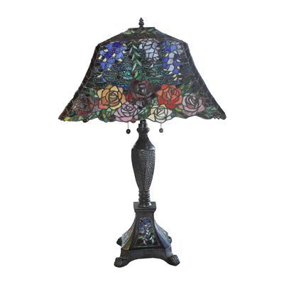 Wisteria Rose Tiffany Lamp