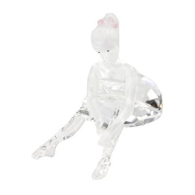 Swarovski Mini Ballerina with Pink Bow