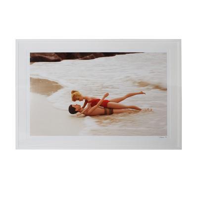 Barbie and Ken Beach Print by Parise