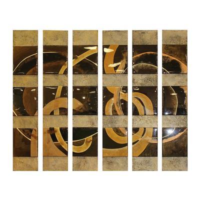 6 Panel Varnished Tile Wall Art