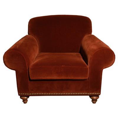 Velvet Nailhead Armchair