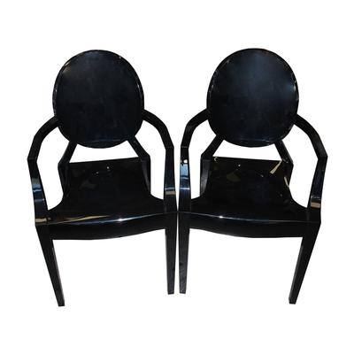 Pair of Black Kartell Ghost Chairs