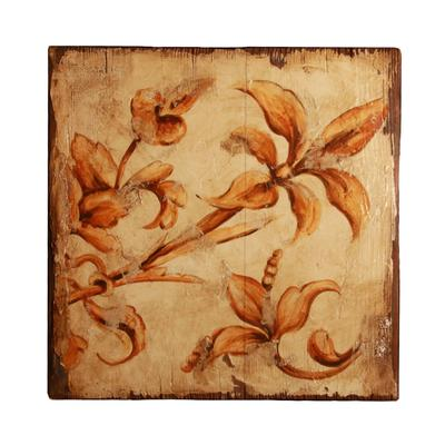 Lisa Desantis Floral on Wood