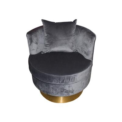 Houzz Grey Barrel Chair