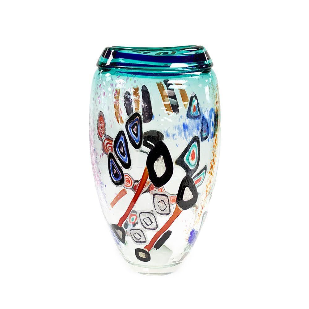 Large Murano Signed Art Glass Vase