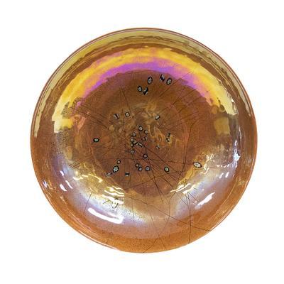 Copper Milletior Glass Bowl