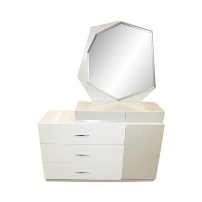 2-toned Modern Dresser with Mirror
