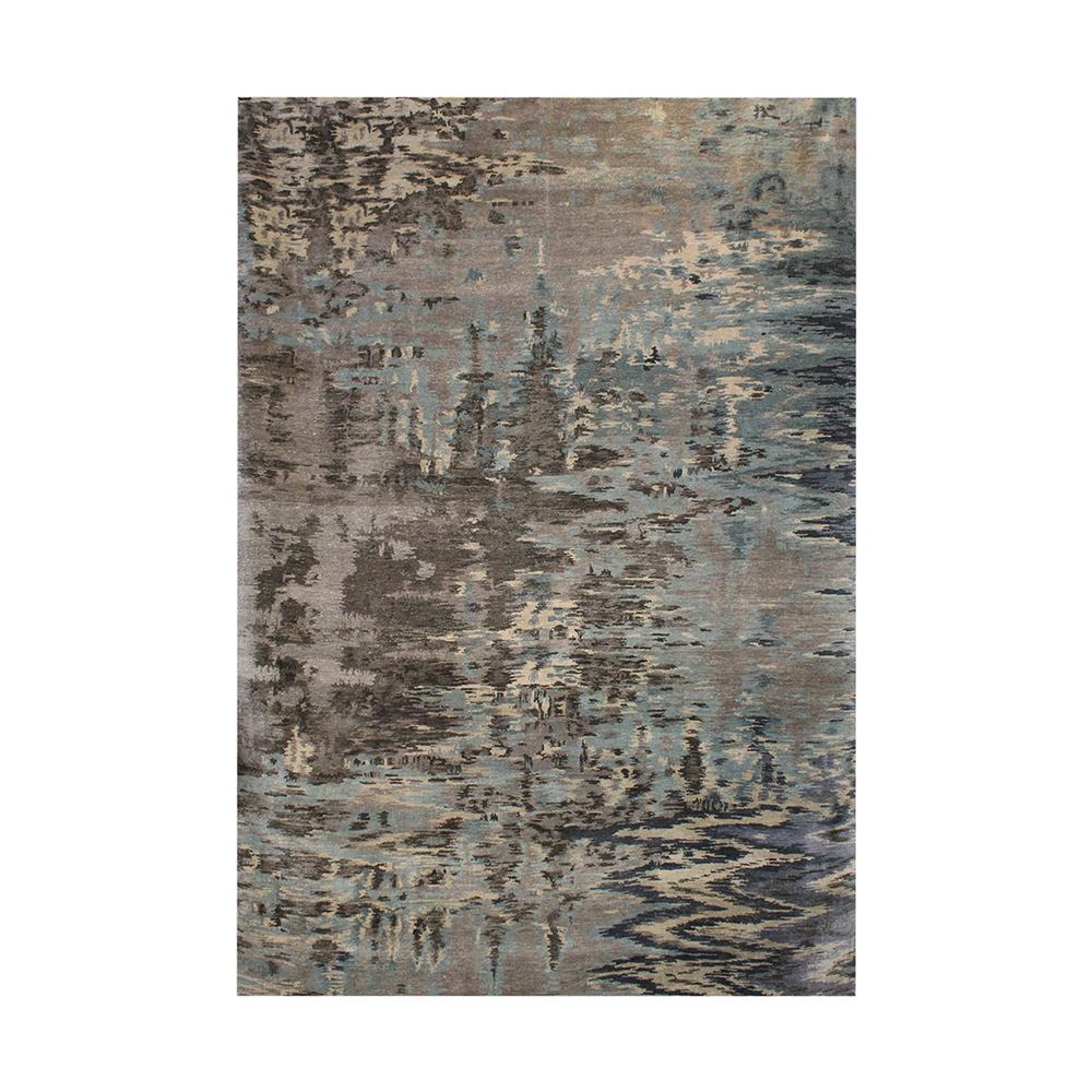Natori Blue And Grey Abstract Rug