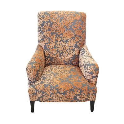 Coral Grey Fabric Armchair