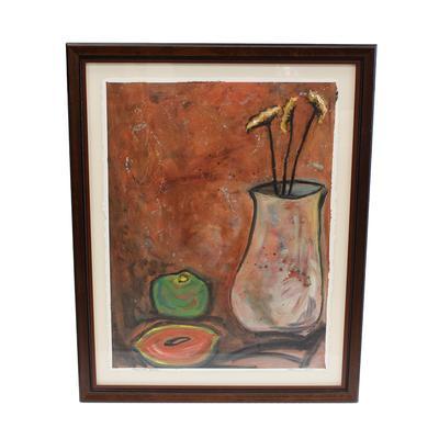 Catherine Carilli Mango and Yarrow Painting
