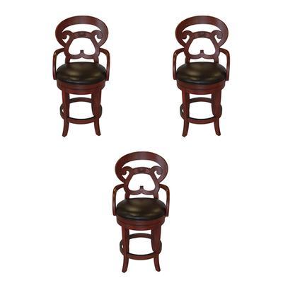 Set of 3 Lorts Swivel Counter Stools
