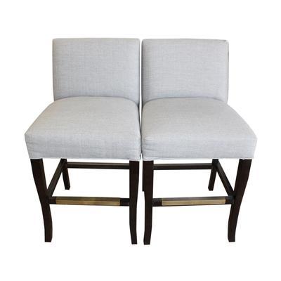 Ballards Design Pair of Grey Barstools