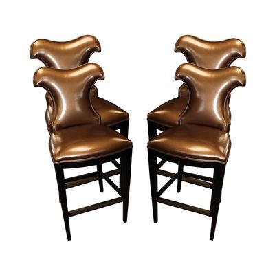 Set of 4 Copper/Bronze Wing Barstools