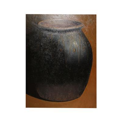 Original Textured Pottery Jar Canvas
