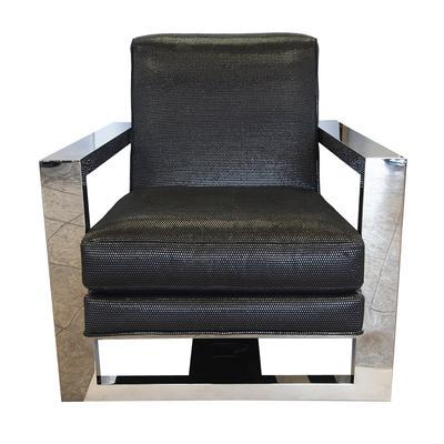 Thayer Coggins Milo Baughman Chunky Chrome Chair