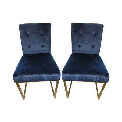 Tov Akika Navy Velvet Chair