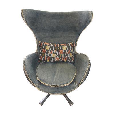 Sarreid Denim Egg Chair
